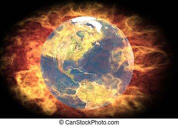地球, 燃焼