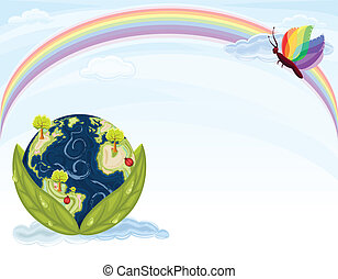 地球, 生態學, -, 綠色