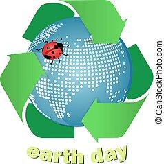 地球, 由于, 再循環符號