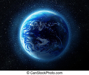 地球, 空間