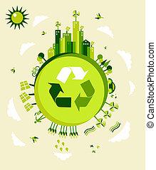 地球, 綠色, 插圖