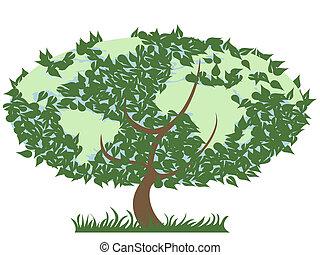 地球, 緑の木