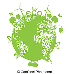 地球, 緑, きれいにしなさい