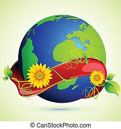地球, 緑