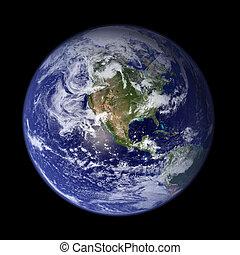 地球, -, 美國