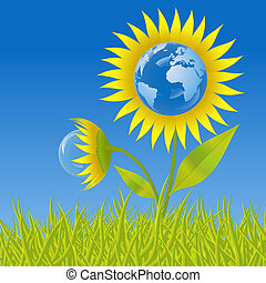 地球, 花