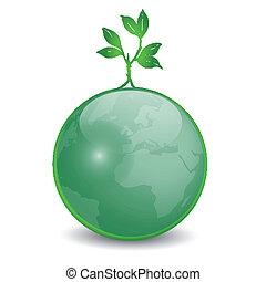 地球, 葉, 緑