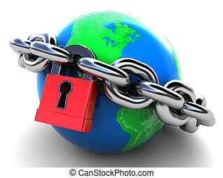 地球, 被鎖