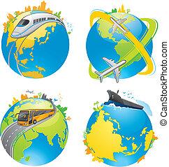 地球, 輸送