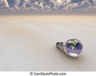 地球, 電球