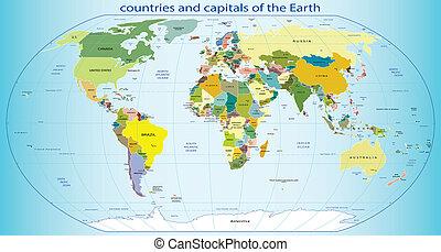 地球, 首都, 国