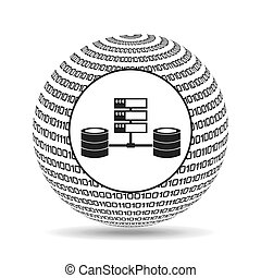 地球, 2進, 概念, データ, システム