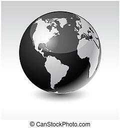 地球, america., -