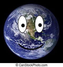 地球, smiley