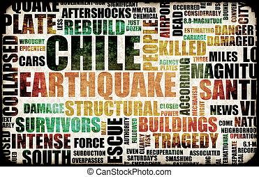 地震, チリ