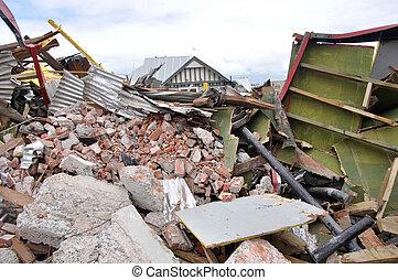 地震, 碎石