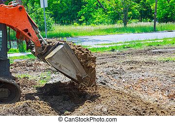 地面, 土壌, 装置, 堀る, 建設, 動く, ブルドーザー