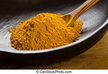 地面, 姜黃根粉末
