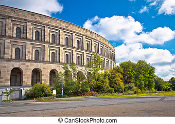 地面, nuremberg, 大厅, reich, 或者, 集会, 纳粹, 国会, 文件, kongresshalle...