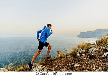 坂の上へ, ランナー, 走っている男性, 運動選手