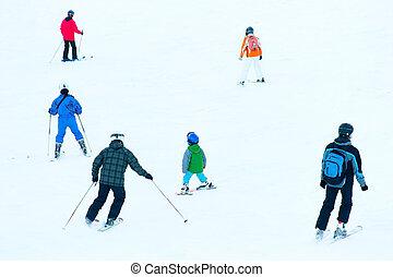 坂, 人々, スキー