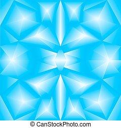 坡度, 藍色, 摘要, 三角形, 背景