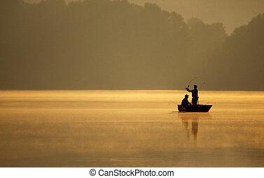 垂钓者, 钓鱼