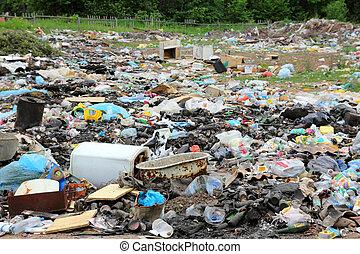 垃圾, 在中, landfill