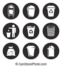 垃圾, 集合, 罐頭, 圖象