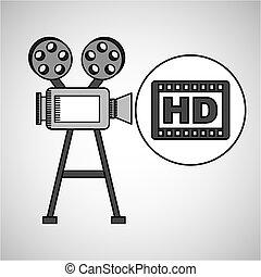 型のカメラ, hd, フィルム, 映画