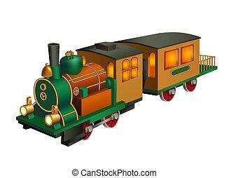 型, おもちゃの列車