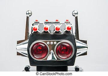 型, おもちゃ, レトロ, ロボット, クラシック