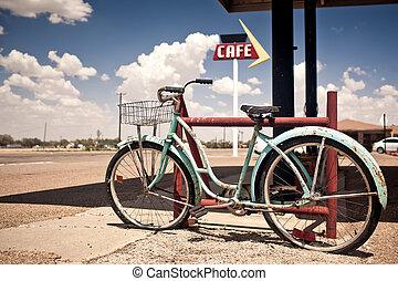 型, さびた, 自転車