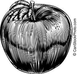 型, アップル, 木版