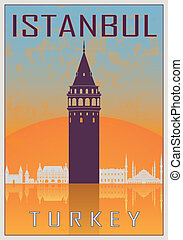 型, イスタンブール, ポスター