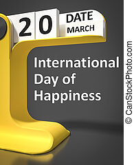 型, カレンダー, 日, 幸福, インターナショナル