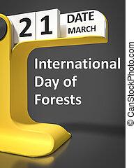 型, カレンダー, 森林, 日, インターナショナル