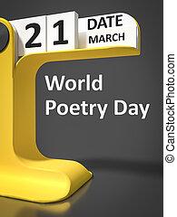 型, カレンダー, 詩歌, 世界, 日