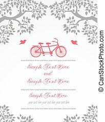 型, カード, 招待, 結婚式