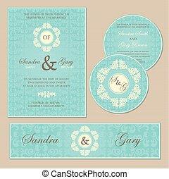 型, カード。, 招待, 結婚式