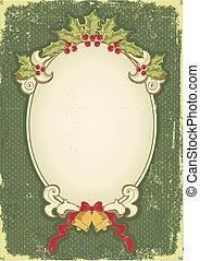 型, クリスマスカード, ∥ために∥, デザイン, ∥で∥, 休日, 要素
