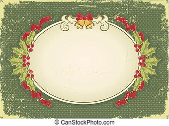 型, クリスマスカード, ∥で∥, 休日, 要素, ∥ために∥, デザイン