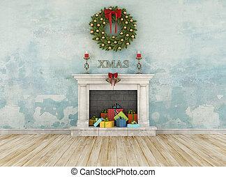 型, クリスマス, 部屋