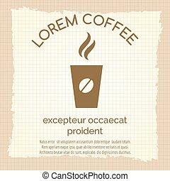 型, コーヒー, 離れて, ポスター, 取得