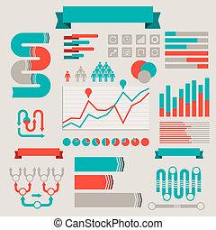 型, スタイルを作られる, elements., infographics
