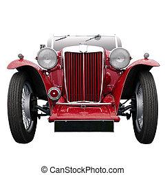 型, スポーツ, 赤い自動車