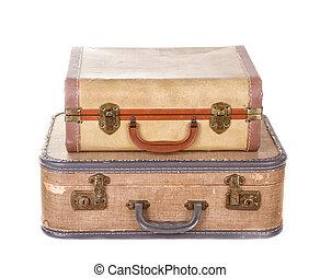 型, スーツケース, 2, 隔離された