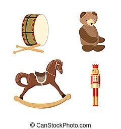 型, セット, クリスマス, カラフルである, おもちゃ