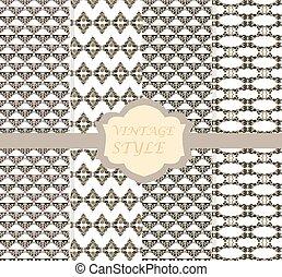 型, セット, 装飾, ダマスク織
