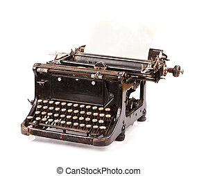 型, タイプライター, 白